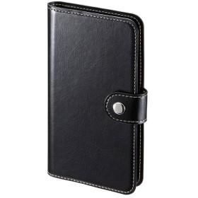 サンワサプライ 手帳型スマートフォンケース Mサイズ PDA-SPC30BK 代引不可