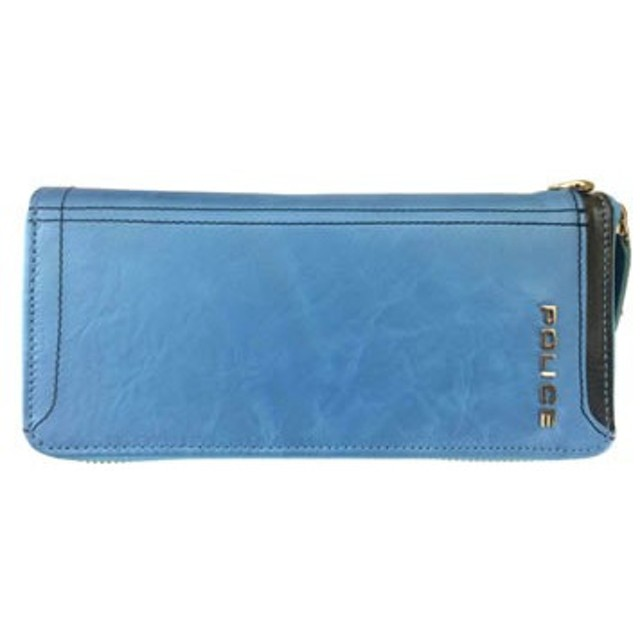 POLICE(ポリス) AXIS 長財布 ブルー PA-58302-50[【並行輸入品】メール便不可】