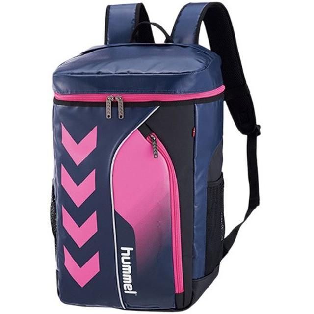 ヒュンメル(hummel) ターポリンバックパック ネイビー×S.ピンク HFB6069 スポーツ トレーニング 鞄 部活