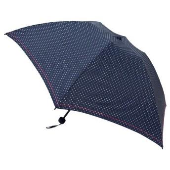 東急ハンズ hands+ 1502 新簡単開閉折りたたみ傘 50cm ドットネイビー