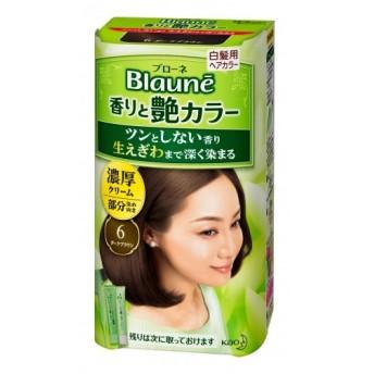 【医薬部外品】ブローネ香りと艶カラー 濃厚クリーム 6 ダークブラウン