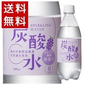 (訳あり)国産 天然水仕込みの炭酸水 ぶどう ( 500mL24本入 )