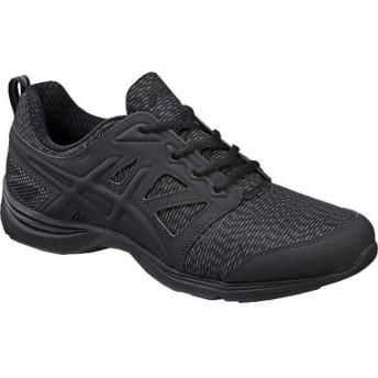 アシックス GEL-MOOGEE558 ブラック×ブラック asics TDW558 9090 メンズファッション メンズシューズ、紳士靴 スニーカー ランニング