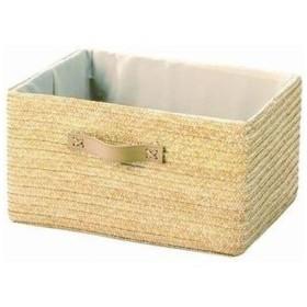 ちどり産業 4517657133549 麦わら 収納ボックス カラーボックス用 ナチュラル 幅36×奥行26×高さ20cm