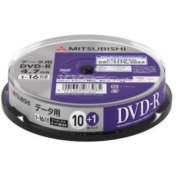 三菱ケミカルメディア DHR47JP11SD5 データ用DVD-R インクジェットプリンタ対応ワイドレーベル スピンドル11枚パック