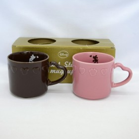 三郷陶器   洋食器ミッキー&ミニー/ハートスタンプ ペアマグセット 3189-11 ギフト 未使用