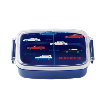 ミキハウス 車&リーナランチボックス(お弁当箱)(500ml) 紺