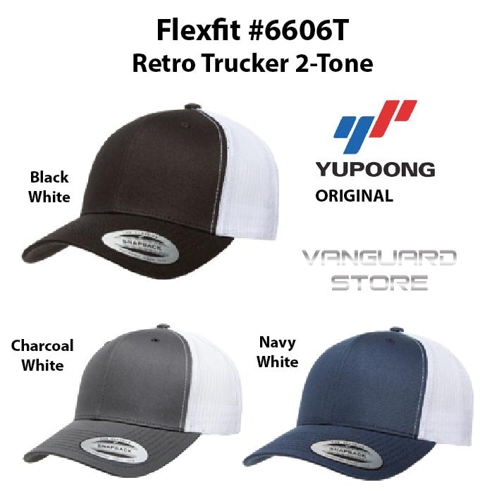009dec7f Topi Yupoong Flexfit 6606T Retro Trucker 2-Tone ORIGINAL