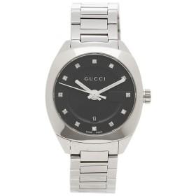 【返品OK】 グッチ 腕時計 メンズ GUCCI YA142503 シルバー/ブラック