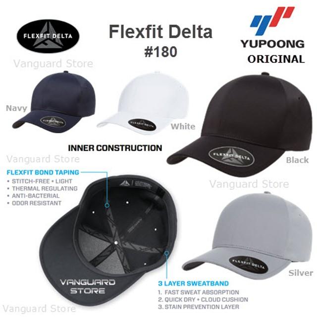 Topi Flexfit Delta 180 Yupoong Built Up ORIGINAL 100%  Rp 205.000 · Topi  Cap Hat Flexfit Low Profile Cotton Twill Dad ... 3926e2b55b