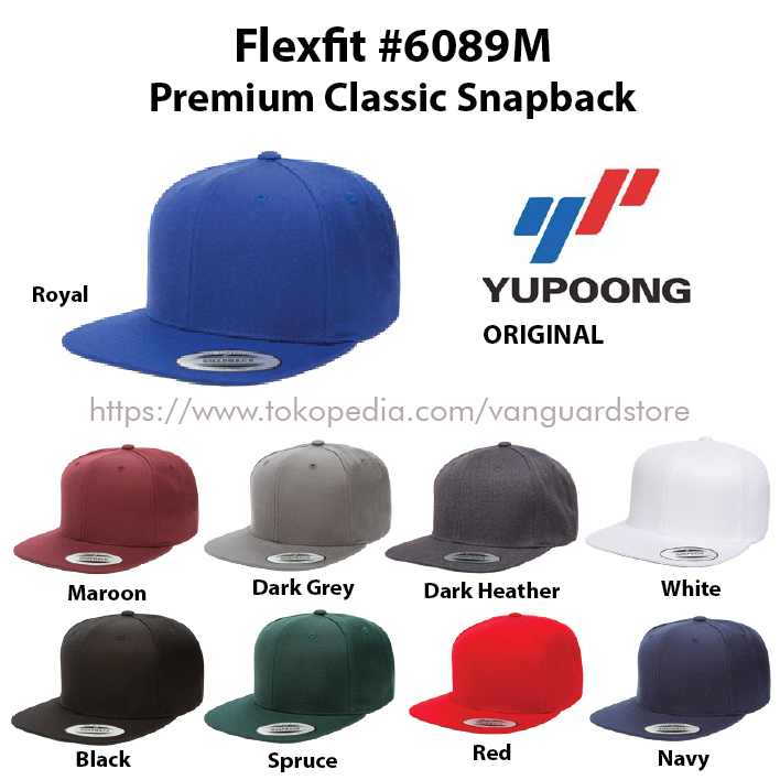 Topi Yupoong Flexfit Premium Snapback 6089M ORIGINAL 64ae4c1618