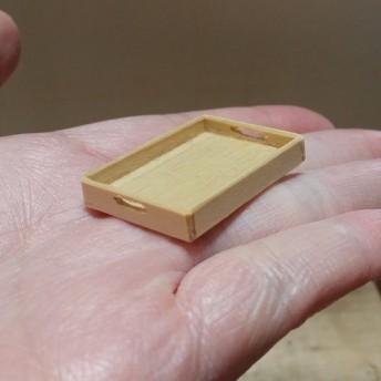 ミニチュア雑貨 木製トレイ インテリアやドールハウスに♪