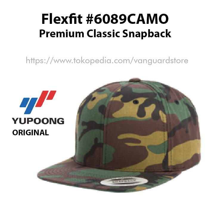Topi Yupoong Flexfit Premium Snapback 6089CAMO ORIGINAL 3931106f95