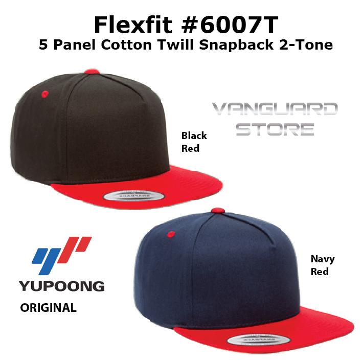 Topi Flexfit 5 Panel Cotton Twill Snapback 2Tone 6007T ORIGINAL d3f547d0e6