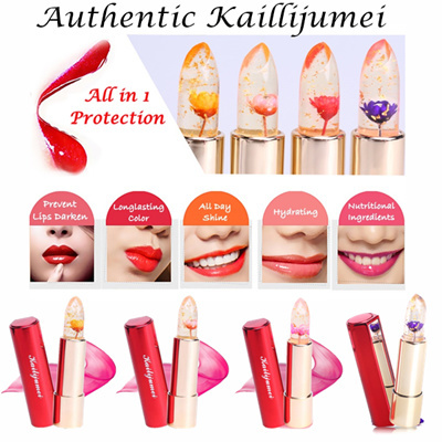Flower Jelly Lipstick Limited Edition Gold Casing - Barbie Doll Powder by Kailijumei .