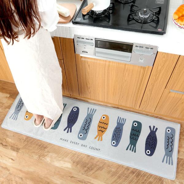 時尚創意地墊181 廚房浴室衛生間臥室床邊門廳 吸水長條防滑地毯(45*160cm 1件裝)
