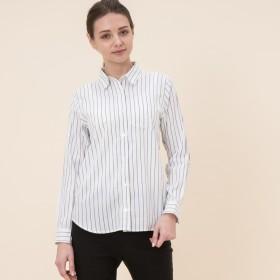 AIGLE レディース レディース 吸水速乾 バーティカル ストライプシャツ ZCF011J LISERON (001) シャツ・ポロシャツ