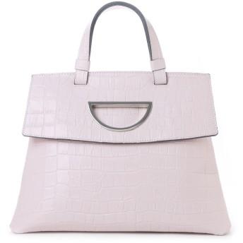 サマンサタバサ Violet D ハンドバッグ クロコ型押し新色(ピンク)