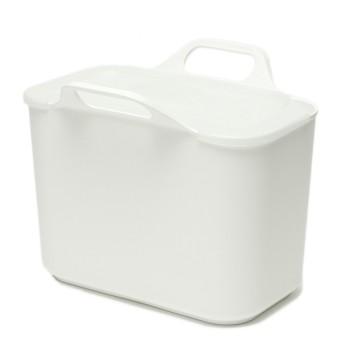 HOME COORDY ヘッドの取り替えできる フタ付収納ボックス ホワイト ホームコーディ 洗濯用品