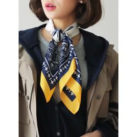 ○雑誌掲載商品○ペイズリーコントラストスカーフ・全5色・d51273