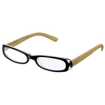 老眼鏡 ここちあい 木製(ブラック/+1.50)