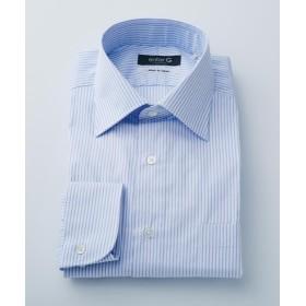 【50%OFF】 エンタージー サックスドビーストライプシャツ メンズ サックスブルー系1 37 【enter G】 【セール開催中】