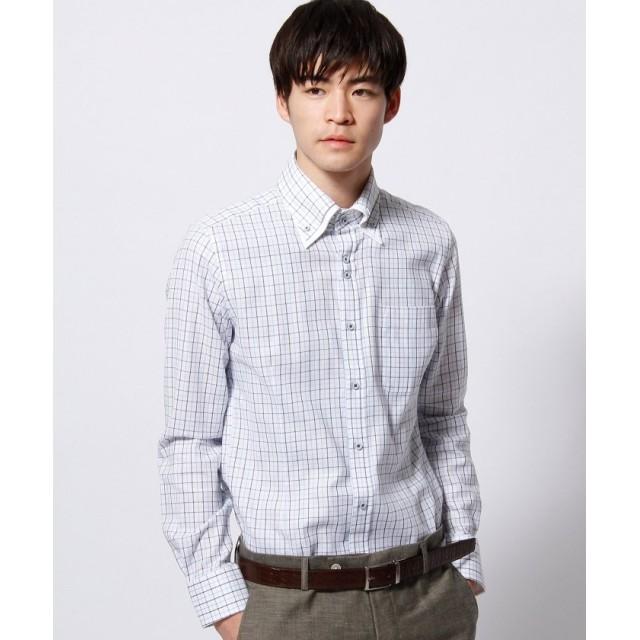 ニコルクラブフォーメン ボタンダウンダブルカラードレスシャツ メンズ サックス L 【NICOLE CLUB FOR MEN】