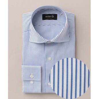 【37%OFF】 エンタージー ワイドロンストシャツ メンズ ブルー系2 38-82 【enter G】 【セール開催中】