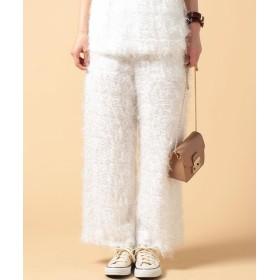 【40%OFF】 ビューティフルピープル cut fur cloth pants レディース オフホワイト 34 【beautifulpeople】 【セール開催中】