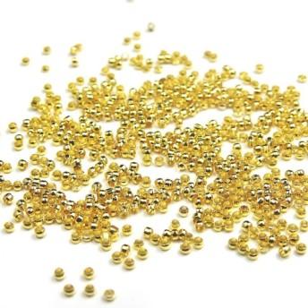 つぶし玉 約200個★ゴールド★2mm×1.5mm★カシメ玉/留め具