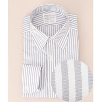 五大陸 プレミアムプリーツ ドレスシャツ スナップダウン メンズ グレー系1 15H 【gotairiku】