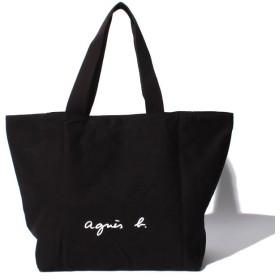 アニエスベー ボヤージュ GO03-01 ロゴトートバッグ レディース ブラック F 【agnes b. Voyage】