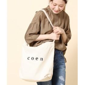コーエン coen2WAYロゴトートバッグ レディース OFFWHITE FREE 【coen】