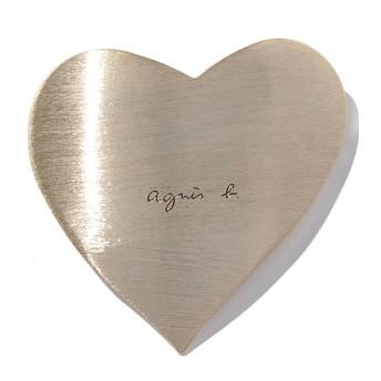 アニエスベー ボヤージュ HA03 09 ハートモチーフへアバレッタ レディース ゴールド F 【agnes b. Voyage】