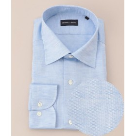 【40%OFF】 エンタージー コットンリネンシャツ メンズ サックスブルー系 XL 【enter G】 【セール開催中】