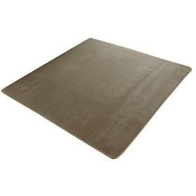 イケヒコ・コーポレーション ラグ カーペット 1.5畳 洗える 抗菌 防臭 無地 『ピオニー』 ベージュ 約130×185cm (ホットカーペット対応)