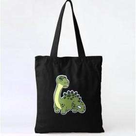 恐竜パッチキャンバスバッグ - ブラキオサウルス