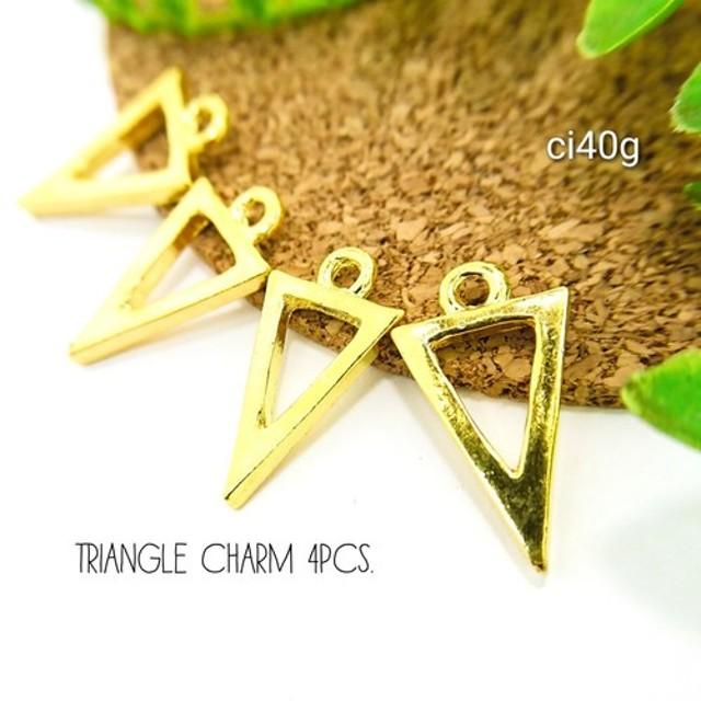 4個☆チベットスタイルの合金チャーム☆ゴールド色【ci40g】