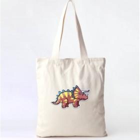 恐竜パッチキャンバスバッグ - トリケラトプス