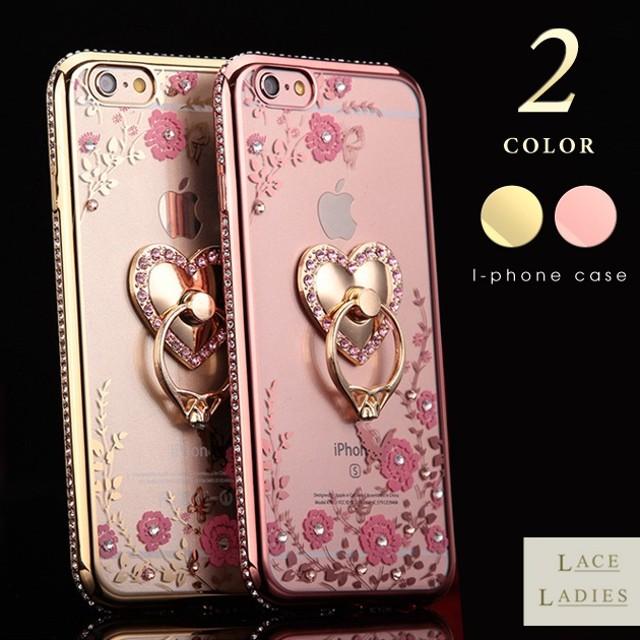 9e18ee151c iPhone8 ケース リング付き クリア タイプ カバー スマホケース ビジュー iPhone6 iPhoneX iPhone7  iPhone7Plus 対応 薄型 iphone