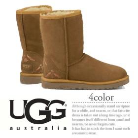 UGG アグ CLASSIC SHORT RUSTIC WEAVE 【1009266】 アグ クラシック ショート ラスティック ウィーブ ムートン ブーツ
