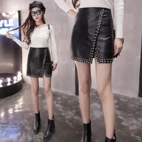 スカート セクシー 黒エレガント ソフトラムレザー PUスカート ミニ 大きいサイズ 美ライン レディースファッション エレガント ハイウェスト PU ミニスカートレディース 韓国ファッション