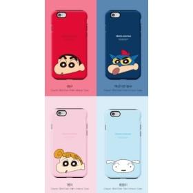 クレヨンしんちゃんiPhoneケース ダブルバンパーカバー ぶりぶり ♪ Galaxy S6 Edge しろ Galaxyケース iPhoneケース