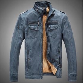 C62【送料無料】メンズ 美品レザージャケット 革ブルゾン ライダース 革ジャケット 裏ボア 3色可選