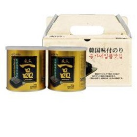 【Hantosi韓国食品・ギフトセット・のり】【宋家】 一品のり缶 ギフトセット[8切x54枚(30g)X2缶入]