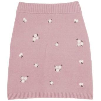 [dazzlin]【sw】マーガレット刺繍ニットスカート