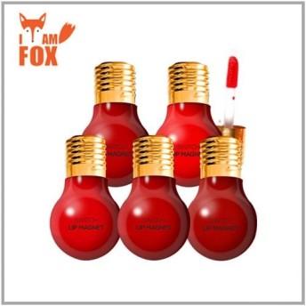 【Iam FOX】電球型のキュートなリップ! スイッチ リップ マグネット/プチ ローズ リップバーム★韓国コスメ★