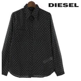 ディーゼル DIESEL コットンシャツ レディース ドット柄 長袖 薄手 C-LUCEEN die-l-t-80-048