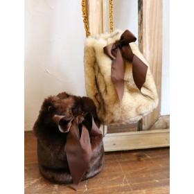 [dazzlin]【goods】フェイクファーボリューム巾着BAG