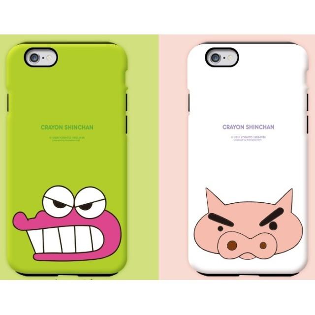 クレヨンしんちゃんiPhoneケース ダブルバンパーカバー ぶりぶり ♪ iPhoneSE/5s/5 Edge しろ Galaxyケース iPhoneケース